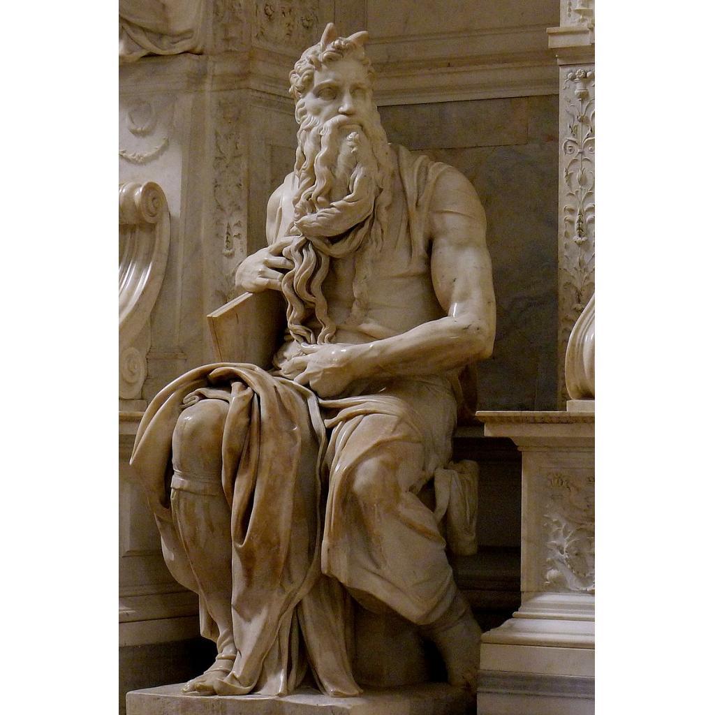 Şekil 2. Musa'nın Hükmü Heykeli San Pietro Bazilikası, Floransa