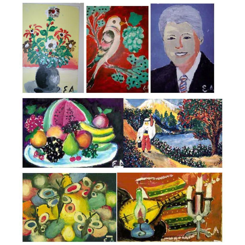 Eşref Armağan'ın yaptığı resimlerden bazıları
